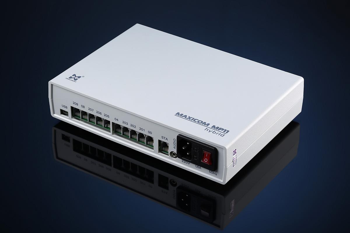 Мини АТС для офиса: гибридная мини АТС MP11