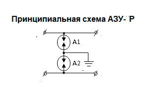Принципиальная схема АЗУ по напряжению