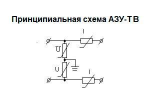 Принципиальная схема АЗУ на 1 пару