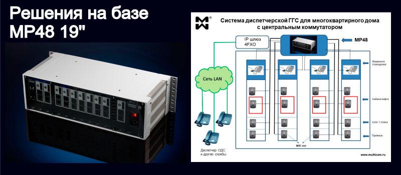Изображение гибридной мини АТС и системы лифтовой связи многоквартирного дома