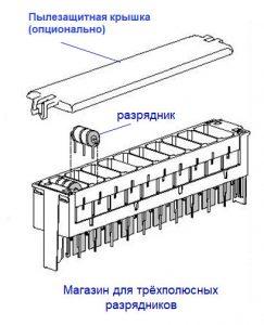 Схема устройства магазина защиты от перенапряжения