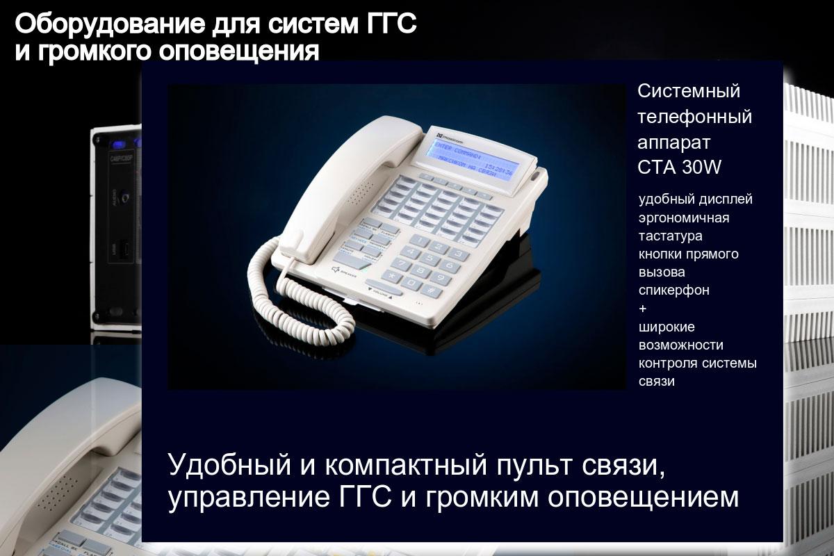 Изображение системного телефонного аппарата