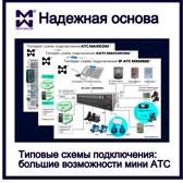 Изображение типовых схем подключения АТС Максиком