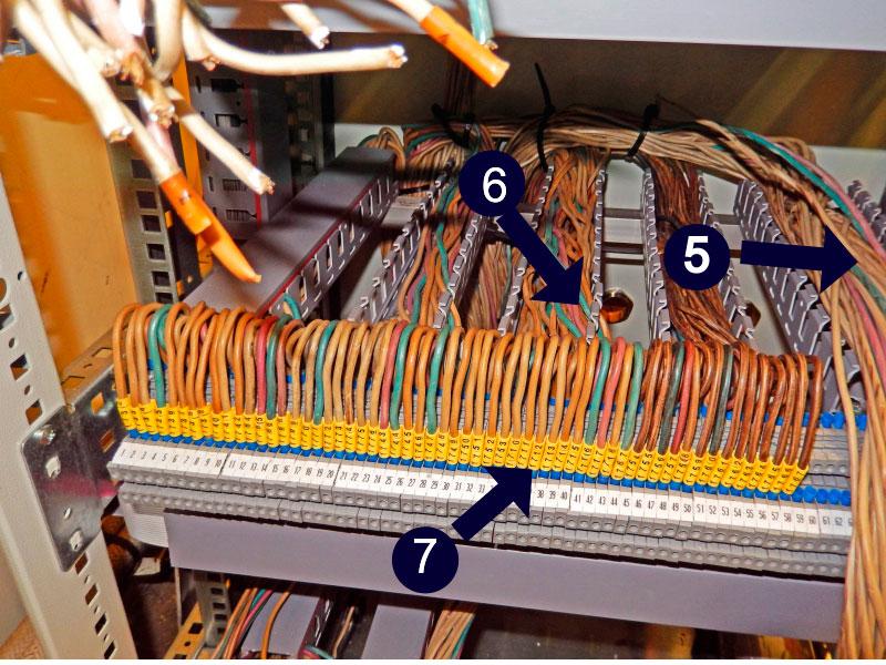Фото четвертого этапа монтажа станционного кросса КАТС