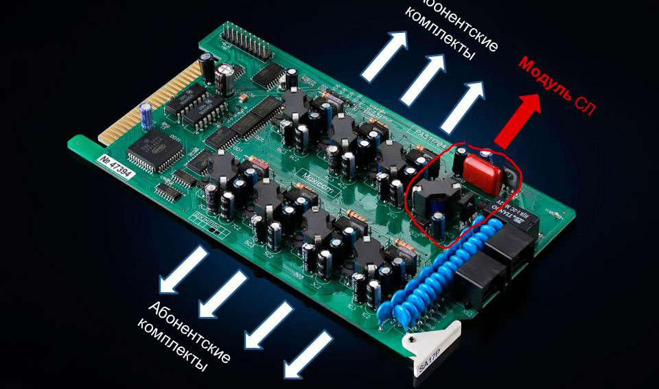 Изображение модуля СЛ на плате