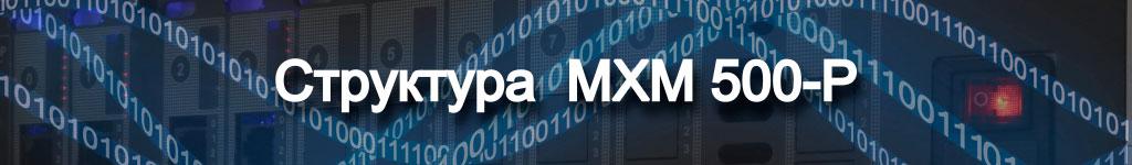 Структура цифровой АТС MXM500P заголовок к подразделу