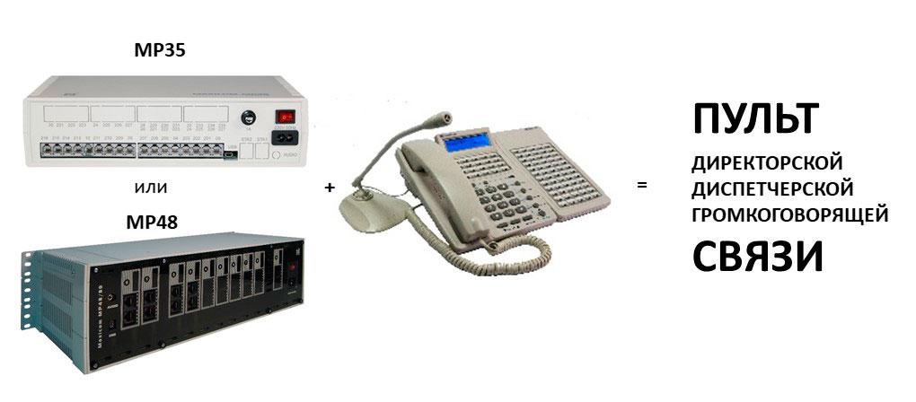 фото мини АТС MP35, МP48 и системного телефона СТА