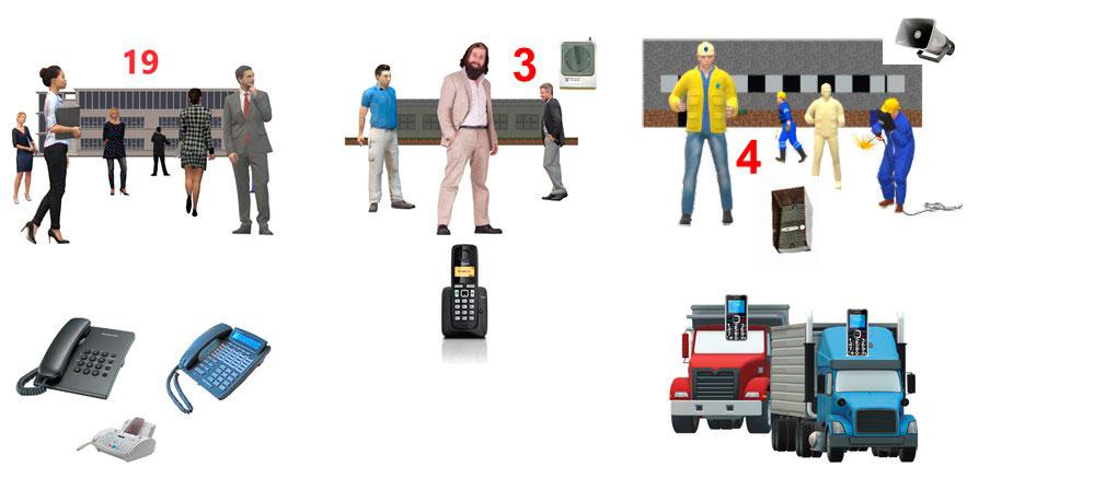 АТС на 20-30 номеров. Изображения абонентских устройств для мини АТС на 21-30 номеров