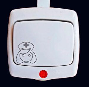 Элемент системы палатной сигнализации - коридорная лампа