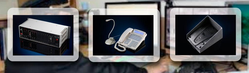 Пульты оперативной связи на базе ЦАТС МАКСИКОМ. Фото цифровой АТС МАКСИКОМ, системного телефонного аппарата и переговорного устройства МАКСИФОН
