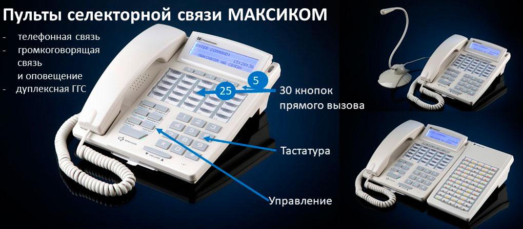Селекторная связь и пульты селекторной связи. Фото пульта STA3-W с указанием основных элементов управления, модификации с выносным микрофоном и СТА с консолью расширения.