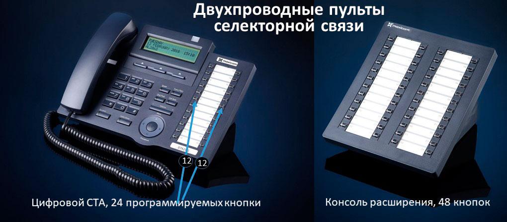 Селекторная связь и пульт селекторной связи. Фото цифрового системного телефона и консоли расширения