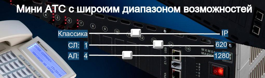 Характеристики мини АТС МАКСИКОМ. Иллюстрация к материалу.