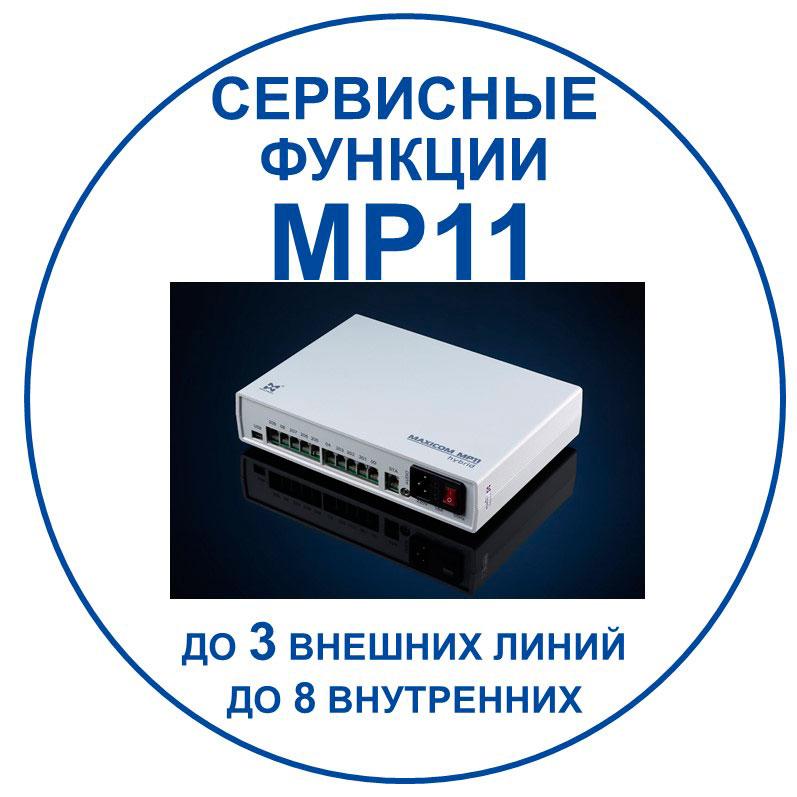 связь для бизнеса: сервисные функции МАКСИКОМ MP11/ Переход к документу с описанием