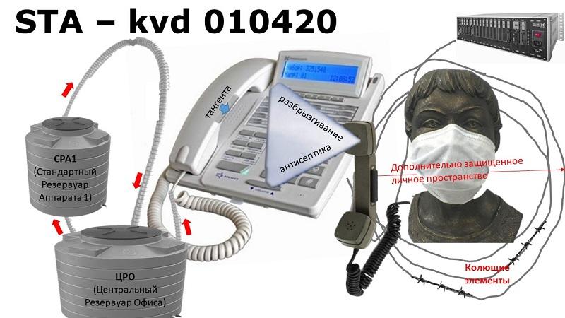 системный телефон против коронавируса, иллюстрация к первоапрельскому выпуску.