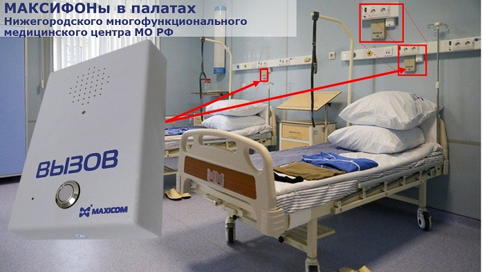 """Связь """"пациент - медперсонал"""" . Фото палаты и увеличенное изображение переговорного устройства"""