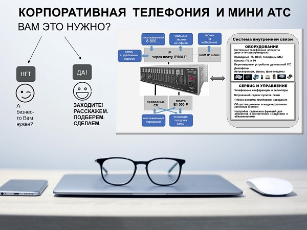 мини АТС и корпоративная телефония.