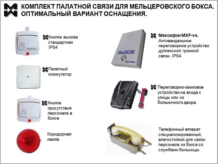 Комплект палатной связи для мельцеровского бокса