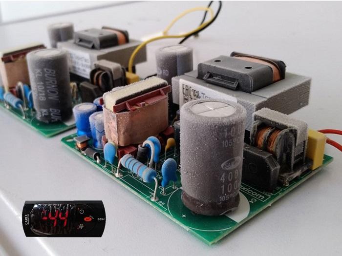 Блок питания MP35 после выдерживания при низких температурах