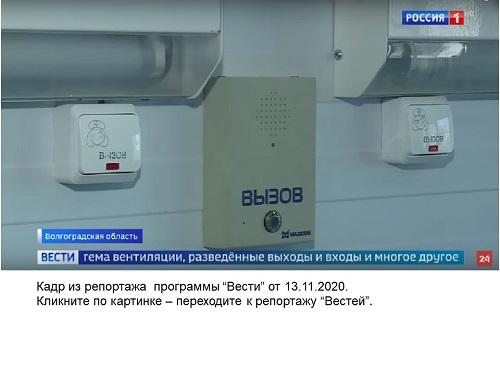 Фото кнопок вызова и голосового пульта пациента в палате