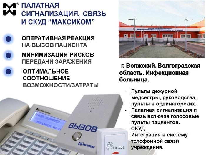 Палатная связь и СКУД в г. Волжском