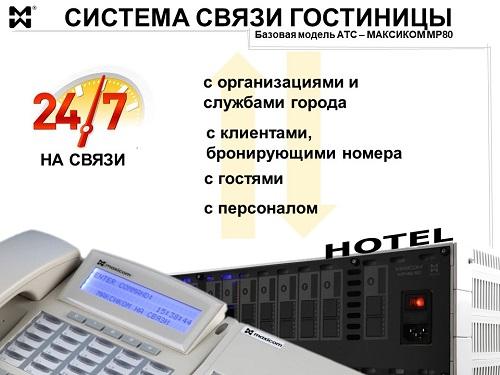 Система связи гостиницы главные компоненты
