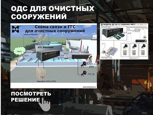 Организация диспетчерской ГГС очистного сооружения. Схема.