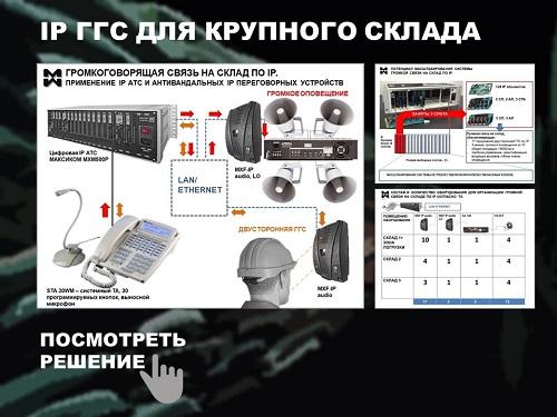 Комплексные системы связи для складов. Пример решения.