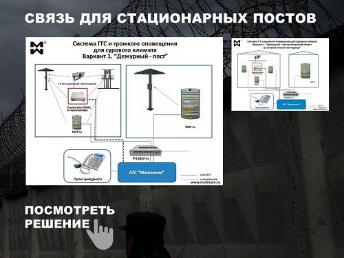 Схема организации связи на посту.