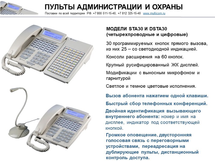 Управление связью и оповещением в ОУ - пульты связи
