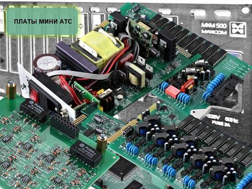 Платы мини АТС -фото плат для Максиком MXM500