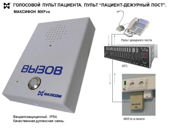 Медицинское  переговорное устройство  - фото и схема подключения