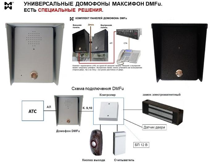 Оборудование СКУД для медицинских учреждений - фото и схема работы домофона DMFu