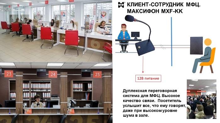 """Переговорные системы """"точка-точка"""" для МФЦ"""
