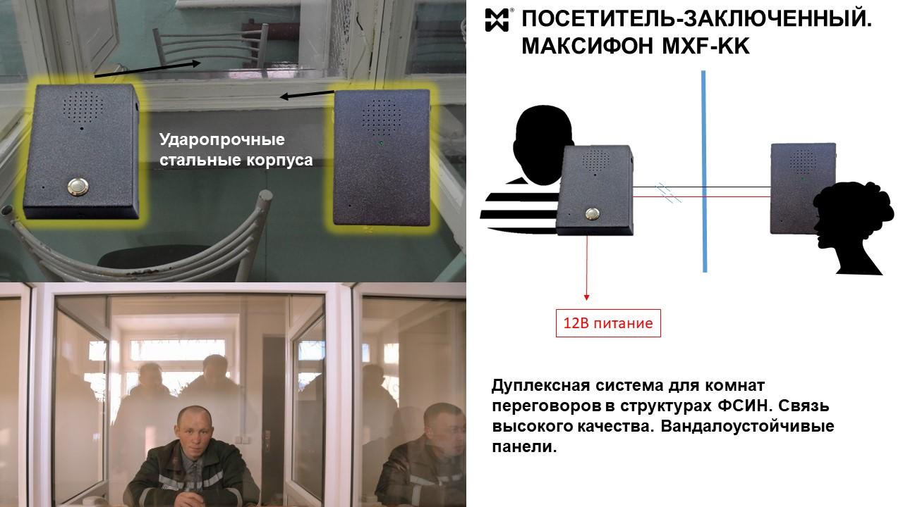 дуплексная система для комнаты переговоров ФСИН