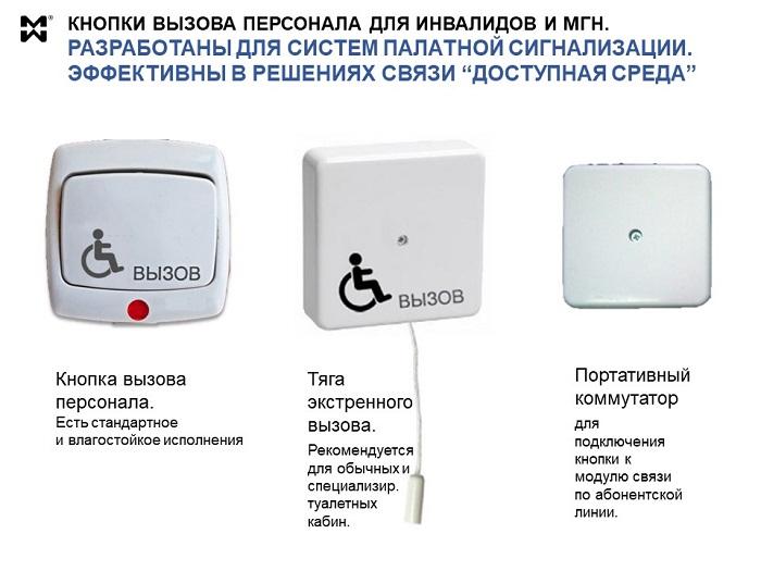 Кнопки вызова для инвалидов и МГН - фото